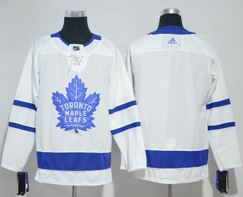 Adidas Maple Leafs Blank White Road Authentic Stitched NHL Jersey