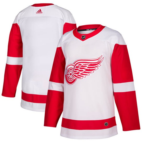 Adidas Red Wings Blank White Road Authentic Stitched NHL Jersey
