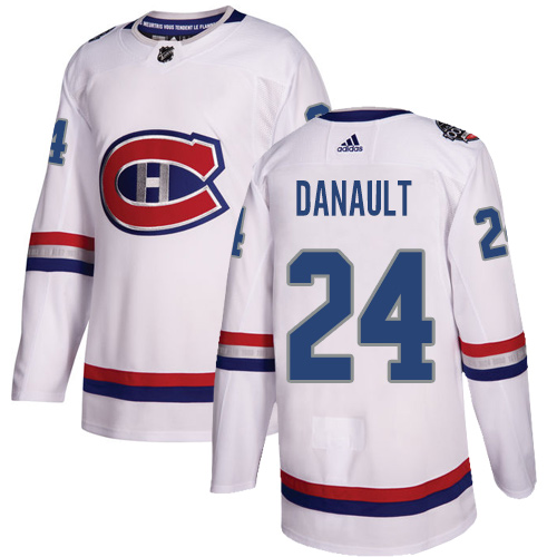 Adidas Canadiens #24 Phillip Danault White Authentic 2017 100 Classic Stitched NHL Jersey