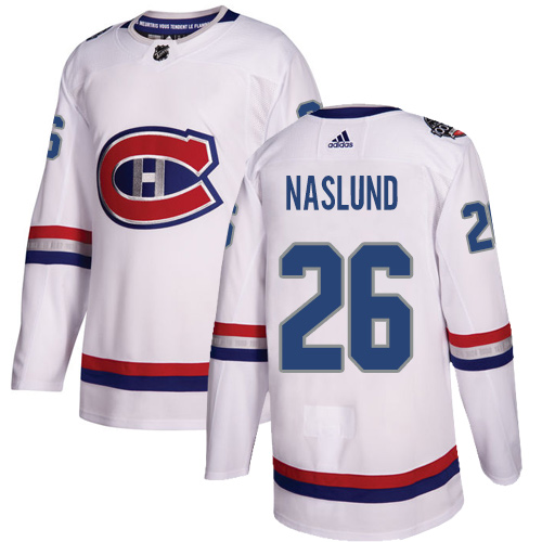 Adidas Canadiens #26 Mats Naslund White Authentic 2017 100 Classic Stitched NHL Jersey