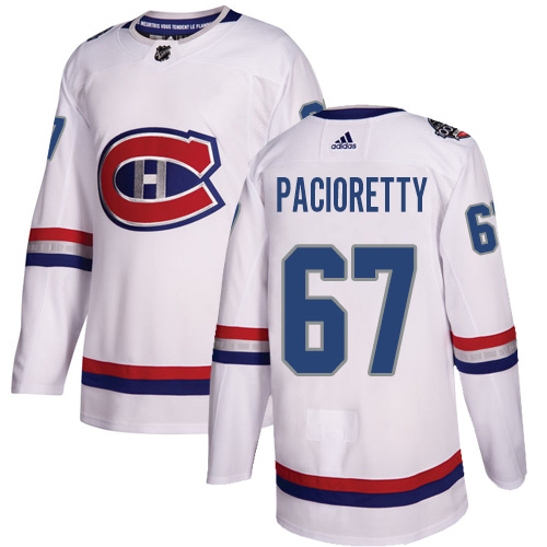 Adidas Canadiens #67 Max Pacioretty White Authentic 2017 100 Classic Stitched NHL Jersey