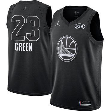 Nike Warriors #23 Draymond Green Black NBA Jordan Swingman 2018 All-Star Game Jersey