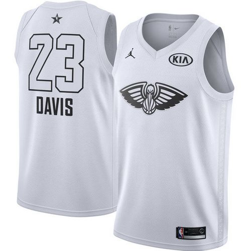 Nike Pelicans #23 Anthony Davis White NBA Jordan Swingman 2018 All-Star Game Jersey