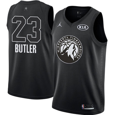Nike Timberwolves #23 Jimmy Butler Black NBA Jordan Swingman 2018 All-Star Game Jersey