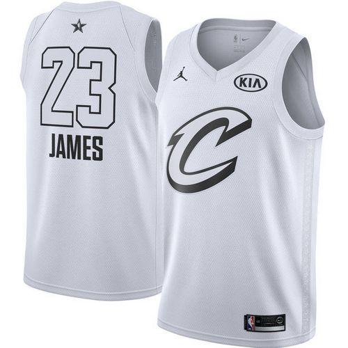 Nike Cavaliers #23 LeBron James White NBA Jordan Swingman 2018 All-Star Game Jersey