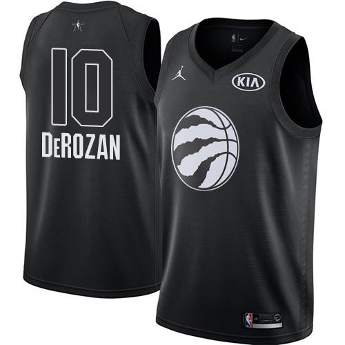 Nike Raptors #10 DeMar DeRozan Black NBA Jordan Swingman 2018 All-Star Game Jersey