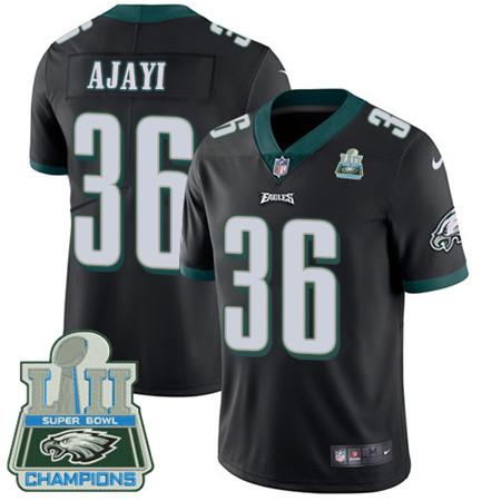 Nike Eagles #36 Jay Ajayi Black Alternate Super Bowl LII Champions Men's Stitched NFL Vapor Untouchable Limited Jersey