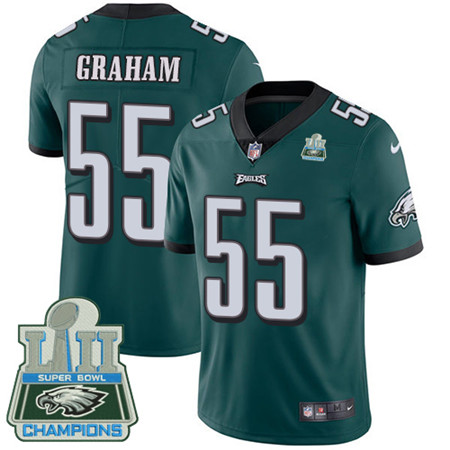 Nike Eagles #55 Brandon Graham Midnight Green Team Color Super Bowl LII Champions Men's Stitched NFL Vapor Untouchable Limited Jersey