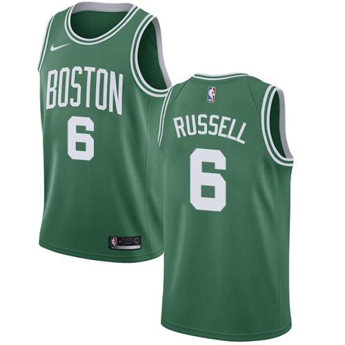 Nike Boston Celtics #6 Bill Russell Green NBA Swingman Icon Edition Jersey