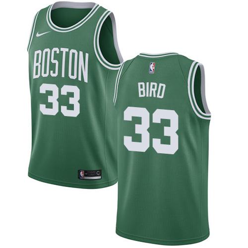 Nike Boston Celtics #33 Larry Bird Green NBA Swingman Icon Edition Jersey