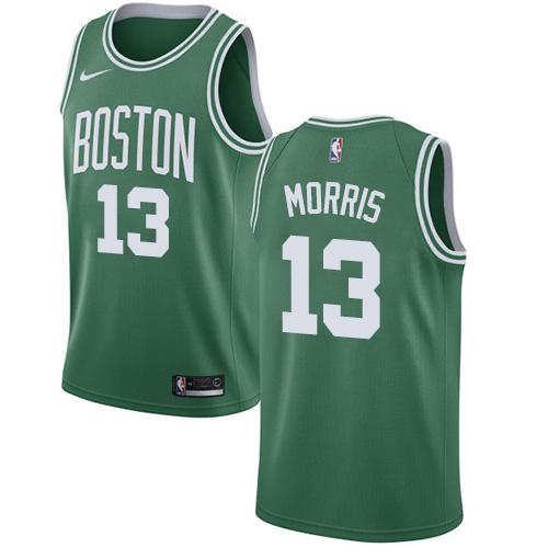Nike Boston Celtics #13 Marcus Morris Green NBA Swingman Icon Edition Jersey