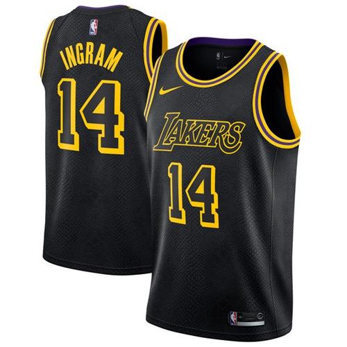 Nike Los Angeles Lakers #14 Brandon Ingram Black NBA Swingman City Edition Jersey