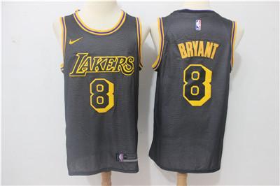 Nike Lakers #8 Kobe Bryant Black City Edition Swingman Jersey