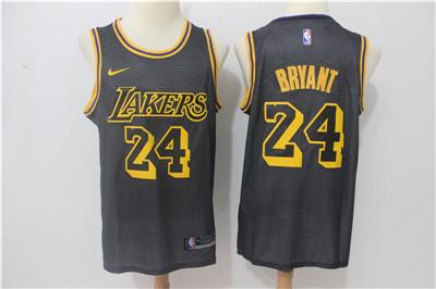 Nike Lakers #24 Kobe Bryant Black City Edition Swingman Jersey