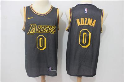 Nike Lakers #0 Kyle Kuzma Black Nike City Edition Swingman Jersey