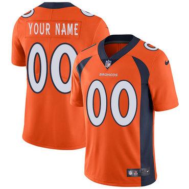 Men's Nike Denver Broncos Orange Customized Vapor Untouchable Player Limited Jersey