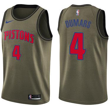 Nike Pistons #4 Joe Dumars Green Salute to Service NBA Swingman Jersey