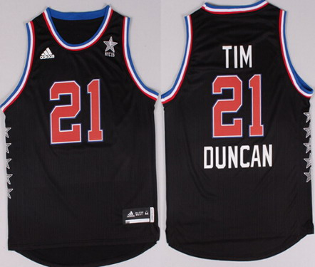 8116b2461 2015 NBA Western All-Stars 21 Tim Duncan Revolution 30 Swingman Black Jersey  2015 NBA All-Star NYC Western Conference 12 Dwight Howard ...