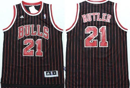 c8fac8a25d8 ... cheap chicago bulls 21 jimmy butler revolution 30 swingman black  pinstripe jersey 6d86b a82f1
