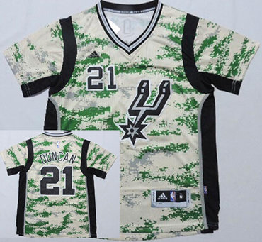 ... Jersey San Antonio Spurs 21 Tim Duncan Revolution 30 Swingman 2014 New  Camo Short-Sleeved ... 0bc8ef1b4