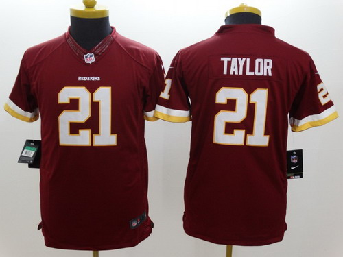 cheap for discount 652b9 511ef Nike Washington Redskins #21 Sean Taylor Red Limited Kids ...