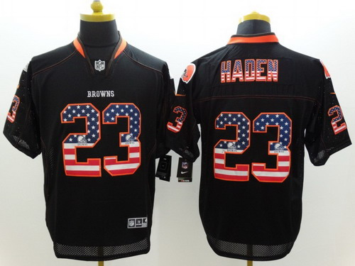 brown game nfl jersey nike cleveland browns 23 joe haden 2014 usa flag fashion black elite jersey ne