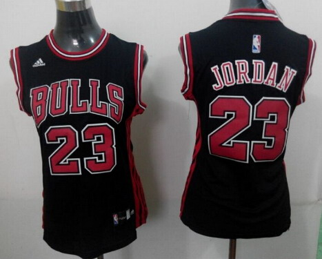 Chicago Bulls #23 Michael Jordan 2014 New Black Womens Jersey
