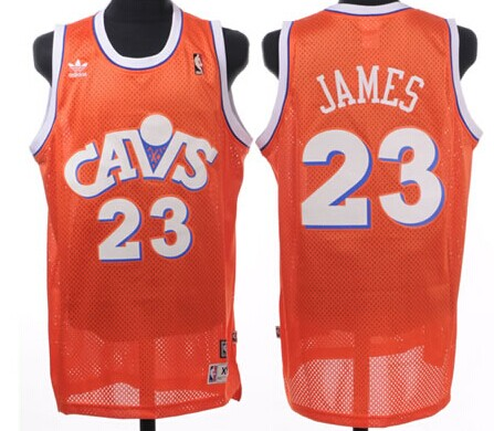 43ca9feec ... Cleveland Cavaliers 23 LeBron James CavFanatic Orange Swingman  Throwback Jersey Cleveland Cavaliers 33 Shaquille O Neal ...