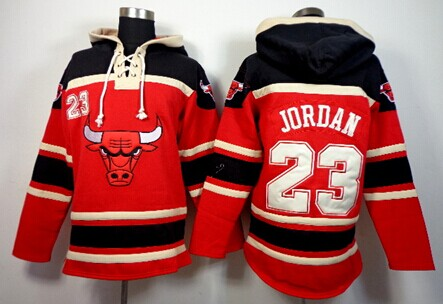 Chicago Bulls #23 Michael Jordan Red Hoodie