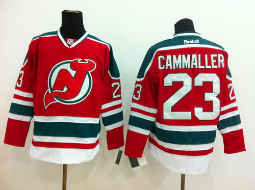 New Jersey Devils #23 Michael Cammalleri Red With Green Jersey