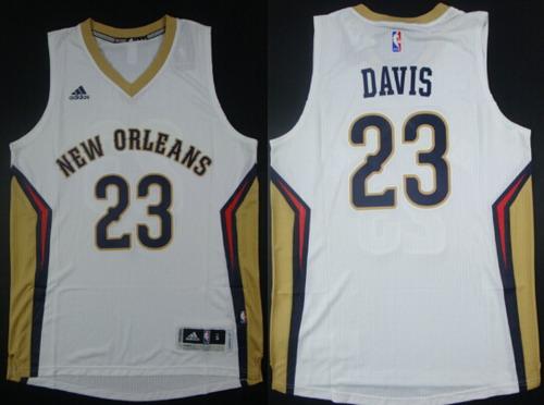 ... New Orleans Pelicans 23 Anthony Davis Revolution 30 Swingman White  Jersey 2015 2016 Adidas NBA ... e6998bcab