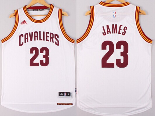 new style edfd7 cd9c7 cleveland cavaliers 23 lebron james white swingman jersey