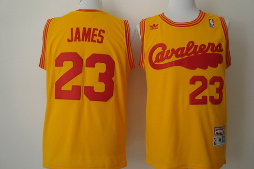7eadca88b ... Cleveland Cavaliers 23 LeBron James 2009 Yellow Swingman Throwback  Jersey Mitchell and Ness NBA Jersey 33 Shaquille ONeal ...