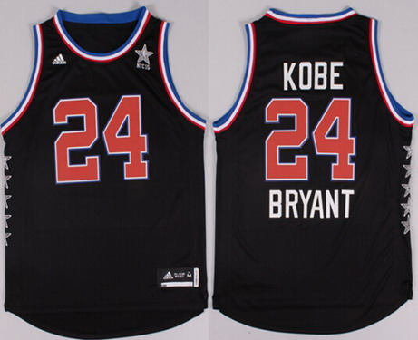 2015 NBA Western All-Stars #24 Kobe Bryant Revolution 30 Swingman Black Jersey