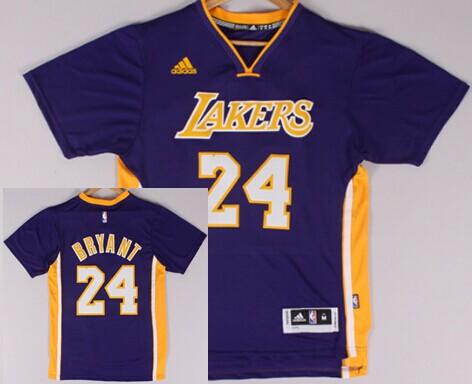 864c327d6 ... Los Angeles Lakers 24 Kobe Bryant Revolution 30 Swingman 2014 New  Purple Short-Sleeved Los Angeles Lakers Jersey 17 Jeremy Lin ...
