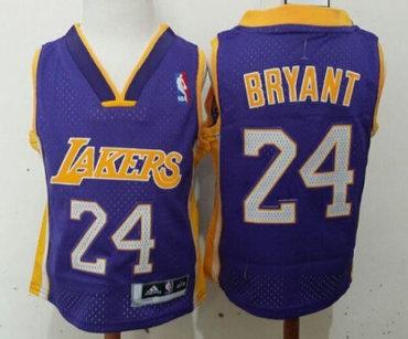 Los Angeles Lakers #24 Kobe Bryant Purple Toddlers Jersey