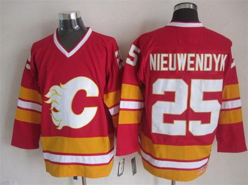 Calgary Flames #25 Joe Nieuwendyk Red Throwback CCM Jersey