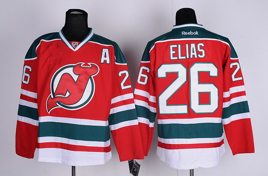0bb5cfff3fe ... brodeur embroidery logos best quality New Jersey Devils 26 Patrik Elias  Red With Green Jersey ...