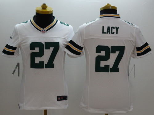 ... Nike Green Bay Packers 27 Eddie Lacy White Limited Womens Jersey ... 3fe85a7fb