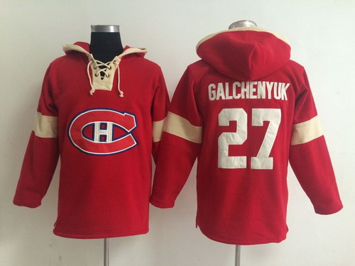 2014 Old Time Hockey Montreal Canadiens #27 Alex Galchenyuk Red Hoodie