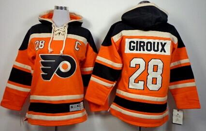 acb433240 ... Old Time Hockey Philadelphia Flyers 28 Claude Giroux 2012 Winter  Classic Orange Kids Hoodie .