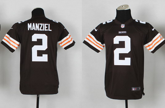 bd91f6b703f ... Gray Ornamented Elite Jersey Nike Cleveland Browns 2 Johnny Manziel  Brown Game Kids Jersey ...