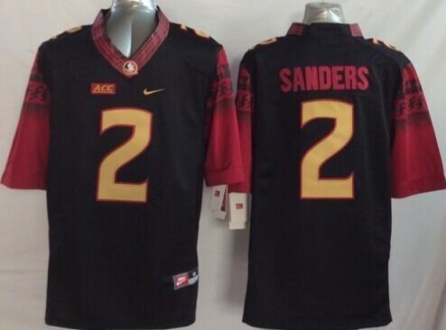 Florida State Seminoles #2 Deion Sanders 2014 Black Limited Kids Jersey