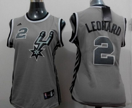 San Antonio Spurs #2 Kawhi Leonard 2014 New Gray Womens Jersey