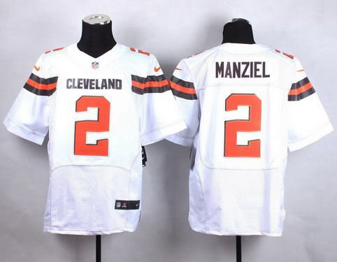 4d7b9572467 ... Nike Cleveland Browns 2 Johnny Manziel 2015 White Elite Jersey ...