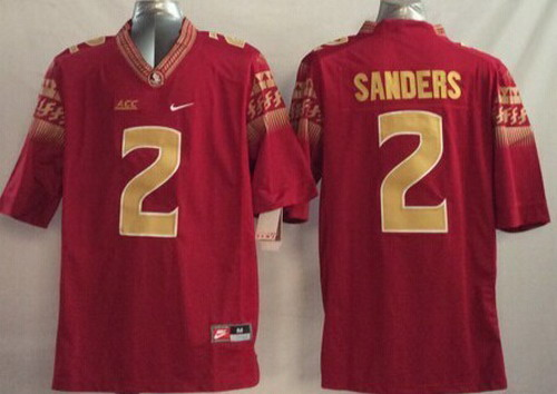 hot sale online a05ab 8cb9b ncaa jerseys florida state seminoles 2 deion sanders red ...