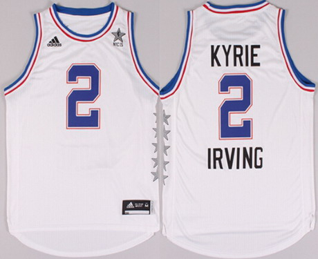 2015 NBA Eastern All-Stars #2 Kyrie Irving Revolution 30 Swingman White Jersey