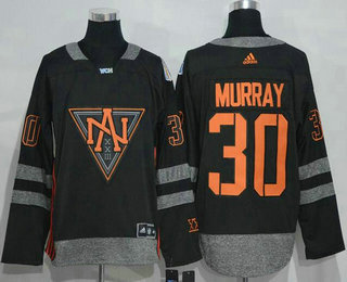 Men's North America Hockey #30 Matt Murray Black 2016 World Cup of Hockey Stitched adidas WCH Game Jersey