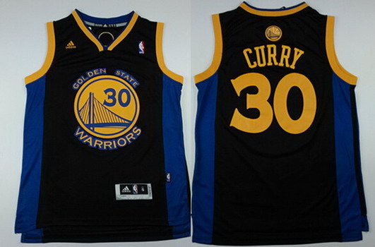 cb516059 Golden State Warriors 30 Stephen Curry Revolution 30 Swingman Black Jersey  ...