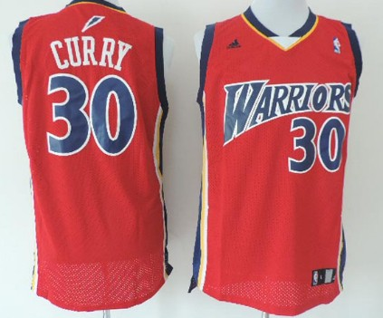 qijxc Golden State Warriors #30 Stephen Curry 2009 Red Swingman Jersey